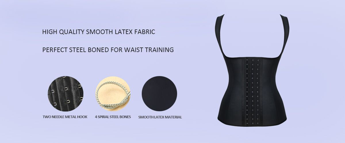 new-black-latex-steel-boned-waist-training-underbust-corset-21434
