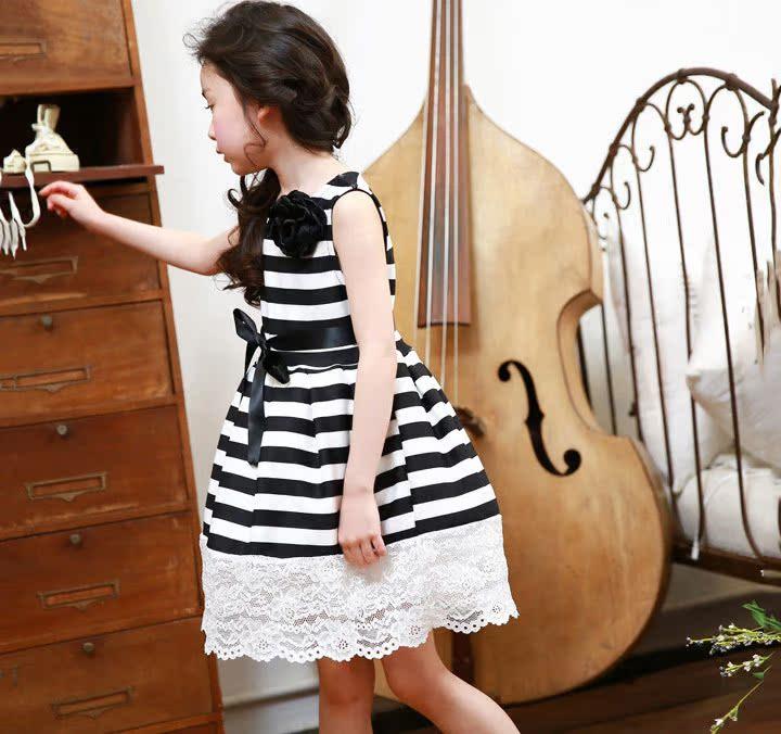 XQ536波点条纹裙8
