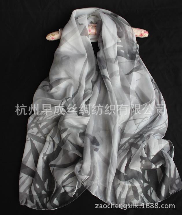 2015新款真丝丝巾 桑蚕丝印花防晒披肩围巾 日韩甜美风格丝
