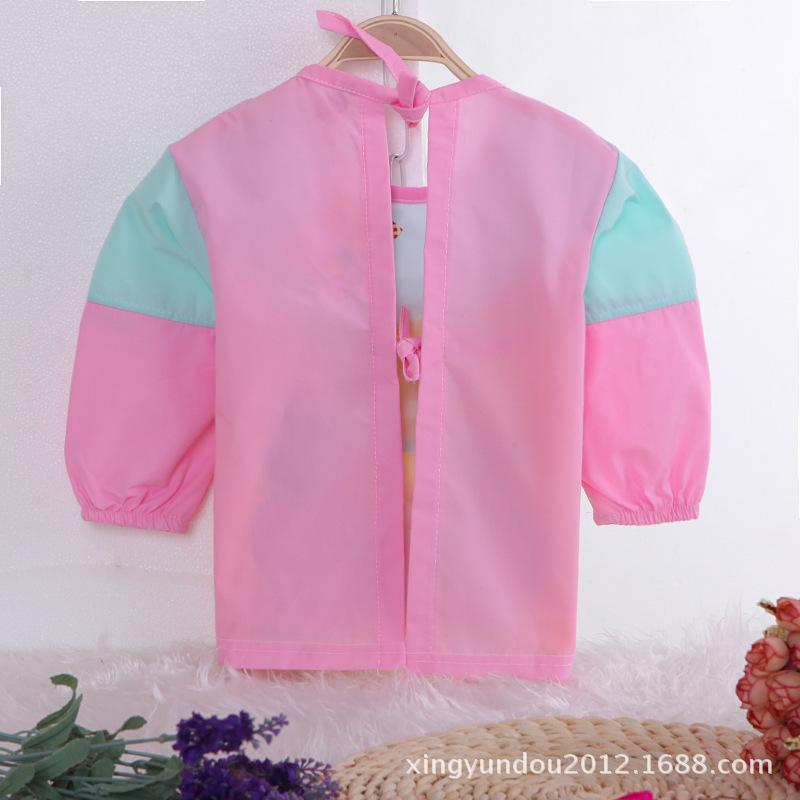 【2015新款儿童罩衣 春款水洗棉1-4岁防水罩衣兜兜衣