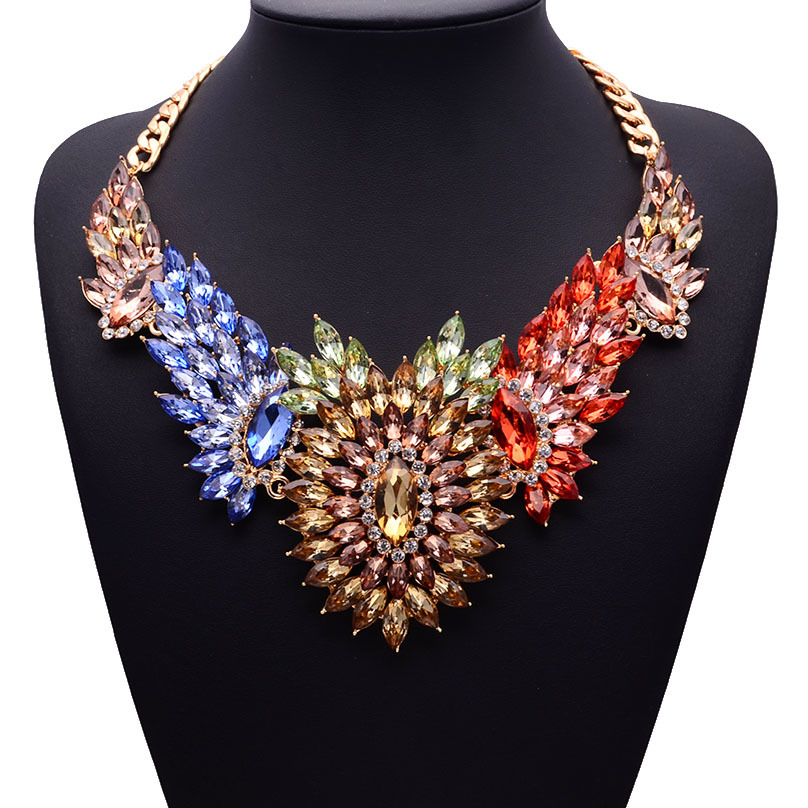 Occident Alloy Flowers necklaces ( Color ) NHJQ0273