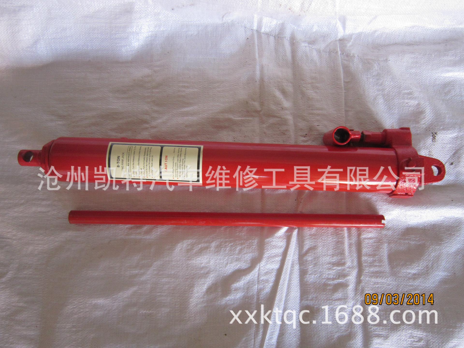 8T长形油泵 汽保工具 千斤顶 油泵 2吨地位吊机专用油缸图片_3
